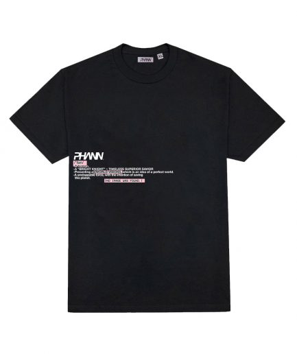 Phann Signature T-Shirt In Black Colour Designed By Phann